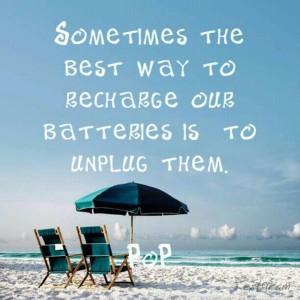recharge and unplug
