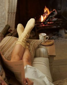 relax by fire