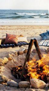 campfire on the beach