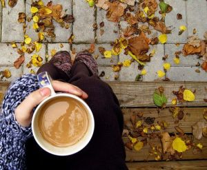 fall and coffee