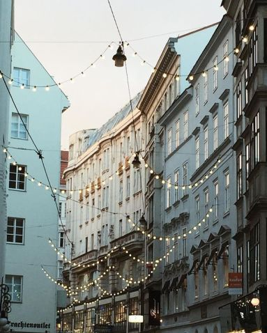 lights on buildings